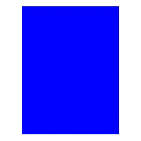 bright blue color trend blank template postcard