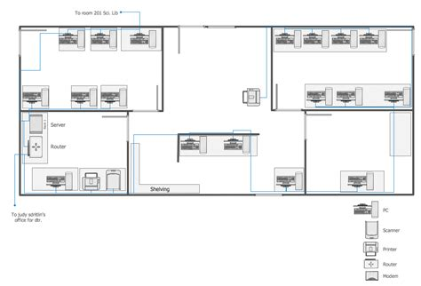 network wiring layout network layout floor plans solution conceptdraw com