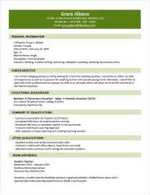 Sample resume format for fresh graduates two page format jobstreet