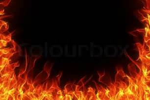 Decorating To Sell Your Home fire and flame frame on black background stock photo
