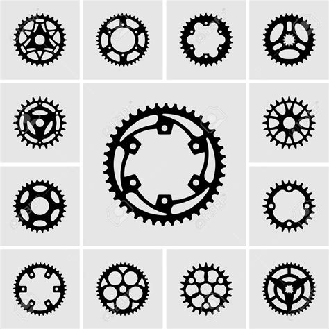 bike gear 19413166 set of sprocket icons stock vector bike gear