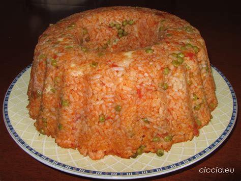 ricette di cucina primi piatti ricette di cucina sformato di riso primo piatto
