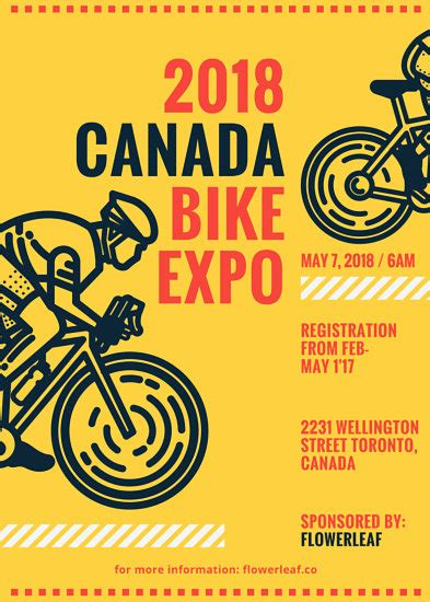 Bike Themed Event Flyer Templates By Canva Bike Flyer Template Free