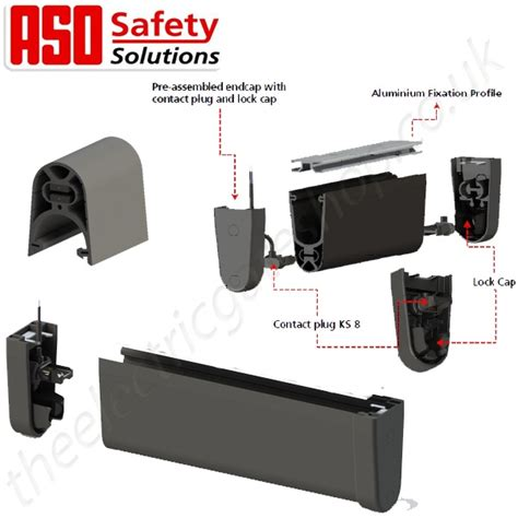Aso Resistive Gate Safety Edge Ge F45 Overhead Door Safety Edge
