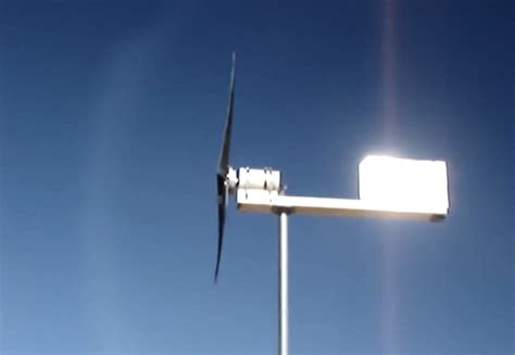 home built electricity producing wind turbine