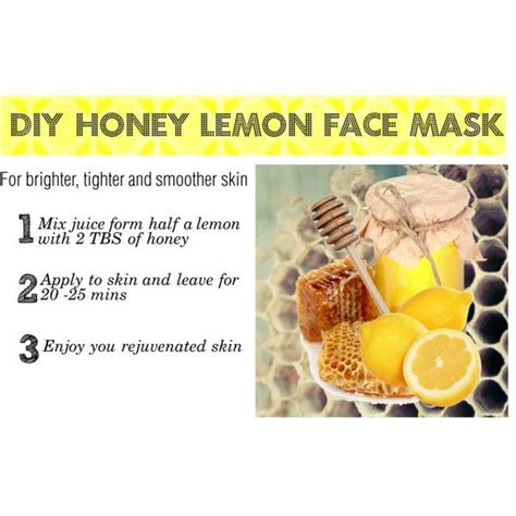 quot diy honey lemon mask quot by gohannah98 on polyvore lemon mask