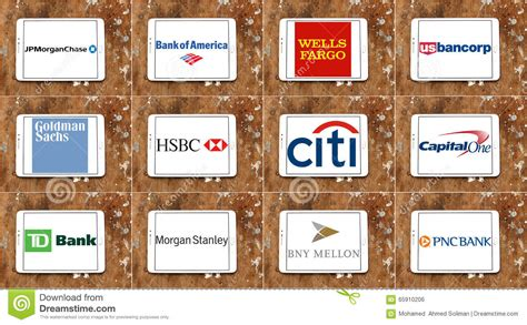 banks in the usa usa banks brands and logos editorial photo image of