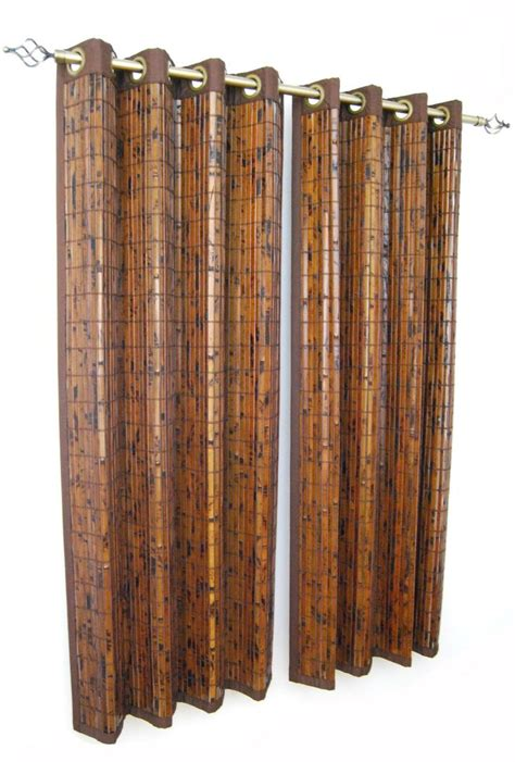 bamboo curtains with grommets versailles home fashions bamboo grommet panel 63 inch