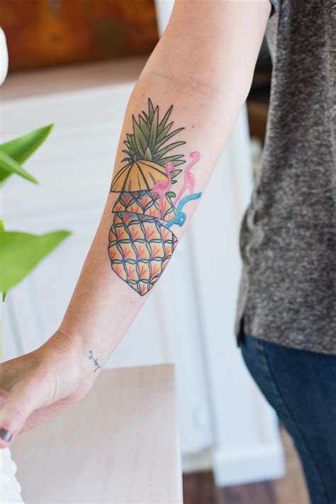 my new pineapple tattoo a beautiful mess