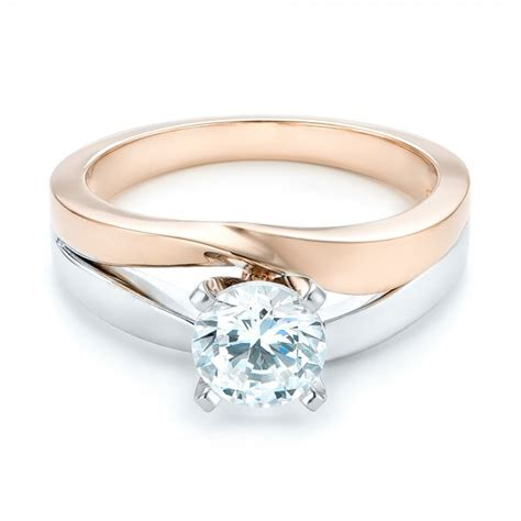 custom two tone engagement ring 102587
