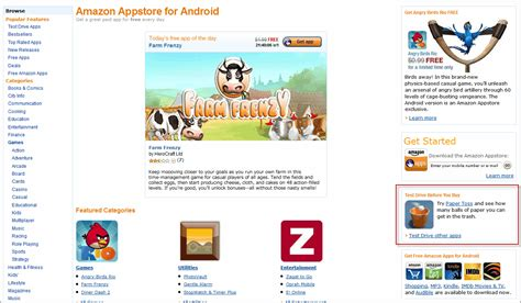 amazon app store amazon appstore introduces test drive now feature ghacks