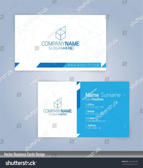 clean modern business card template modern creative clean business card design stock vector