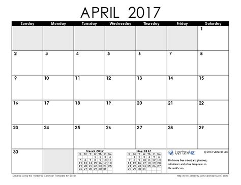 printable calendar vertex 2017 calendar templates and images