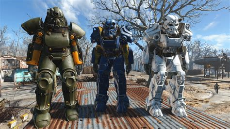 vibrant power armor vault tec winterized paint version 3 fallout 4 mod