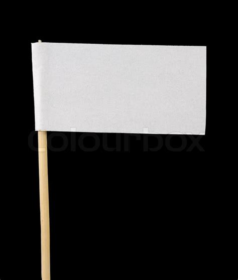 How To Make Paper Flags - blank paper flag on black background stock photo colourbox