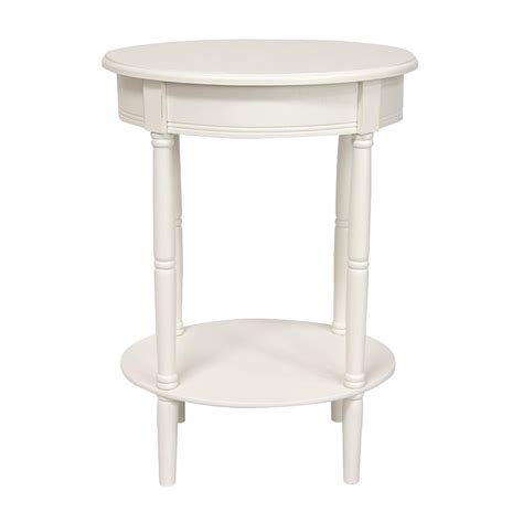 Lowes End Tables by Shop Furniture Classic Design White Pine Oval End