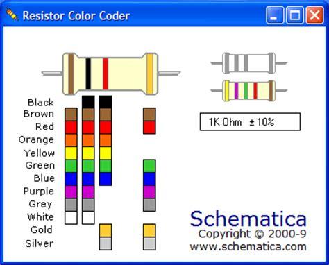 resistor color coder v2 resistor color code generator electronics everyday