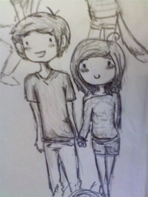 a cute chibi drawing of me and my bf gilbert xd by gir