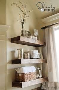 floating shelves for bathroom 26 simple bathroom wall storage ideas shelterness