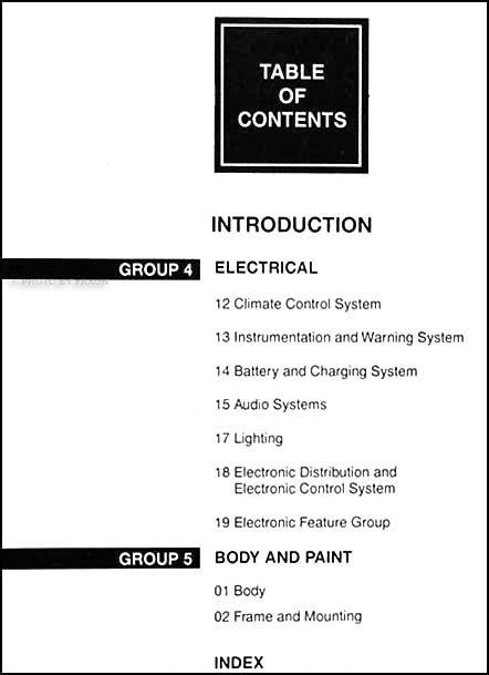 download car manuals 1999 mercury cougar user handbook 1999 mercury cougar repair shop manual set original