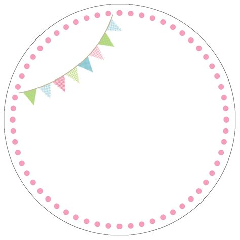 cupcake circle template cupcake themed birthday with free printables how