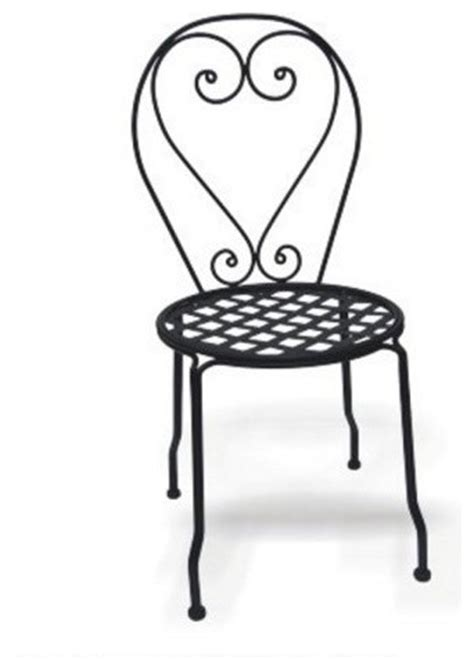 Wrought Iron Outdoor Chairs by Wrought Iron Chair With Mesh Seat Set Of 4 Traditional