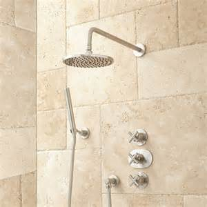 Bath Shower Systems Callas Thermostatic Shower System With Rainfall Shower And