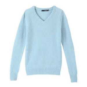 Lighting Sweater Vancl V Neck Wool Sweater Light Blue Sku 33225 Wholesale