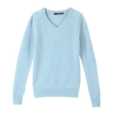 Light Blue Sweater by Vancl V Neck Wool Sweater Light Blue Sku 33225 Wholesale
