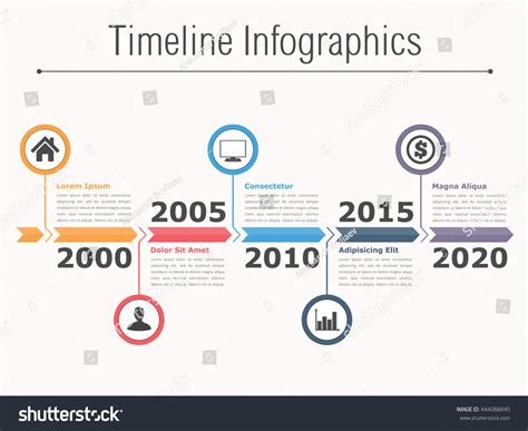 timeline flowchart template timeline infographics design arrows workflow process stock