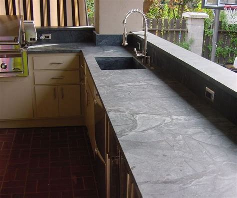 outdoor kitchen countertops ideas 25 best ideas about soapstone counters on
