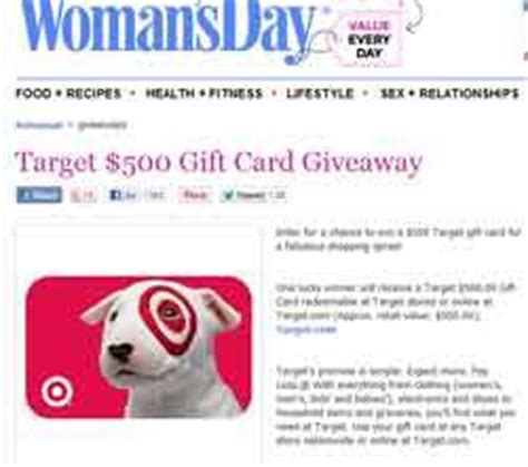 Womans Day Giveaways - womansday com giveaways target gift card giveaway