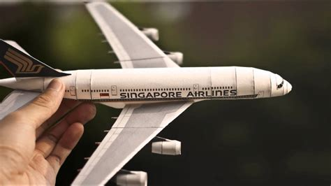 Paper Craft Singapore - papercraft airbus a380 singapore airlines paper model 1