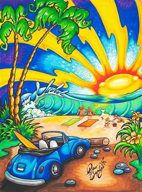 surf art drew brophy surf lifestyle artist