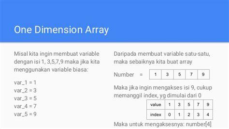 isi for array mobile application 2 pertemuan 2 dasar kotlin loop control