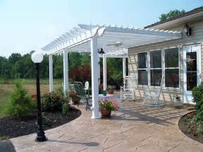 How To Build A Pergola On Concrete Patio by Stamped Concrete Patio With Pergola Home Design Ideas