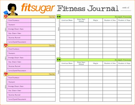Printable Workout Log Excel