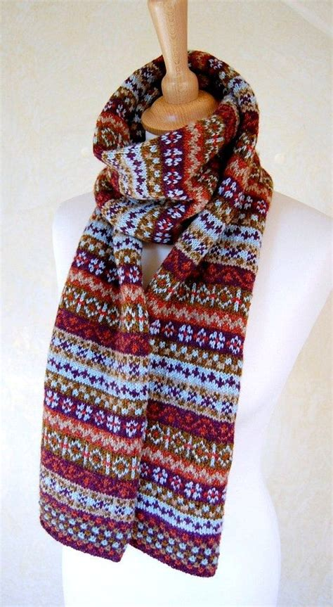 knitting pattern fair isle scarf fair isle scarf reserved listing for jacky by