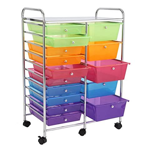 15 drawer colorful storage cart finnhomy 15 drawer rolling cart storage rolling carts with
