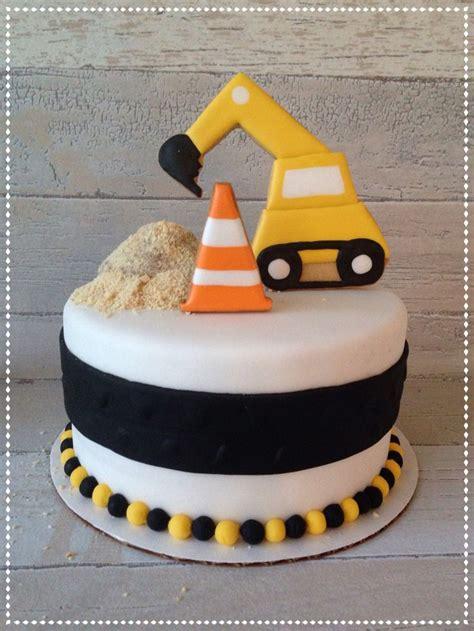 excavator cake ideas  pinterest construction cakes digger cake  photo cakes