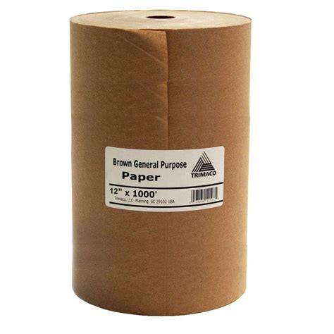 easy mask 12 in x 1000 ft brown masking paper 12107