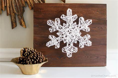 String Diy - diy string snowflake