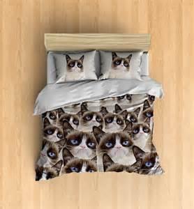Zipper Bed Sheets Grumpy Cat Bedding Grumpy Cat Duvet Cover Grumpy By