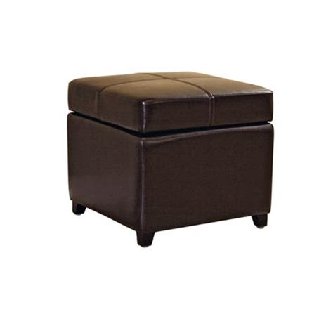 dark brown leather storage ottoman wholesale interiors bicast leather storage ottoman brown