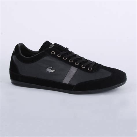 lacoste misano 22 mens laced leather suede trainers