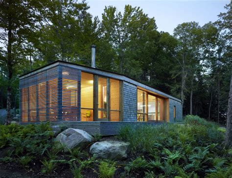Lakeside Cottage Wrapped In Cedar And Glass Small House Plans Ontario Canada