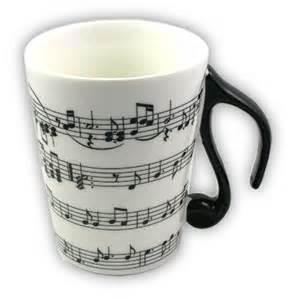 Nice Coffee Mugs white sheet music mug with lid musicians gift musical