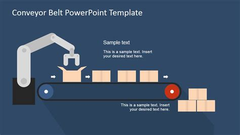 Flat Conveyor Belt Powerpoint Template Slidemodel How To Use A Powerpoint Template