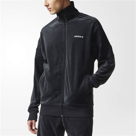 Jaket Sweater 3 Colour Adidas Black adidas originals challenger velour track jacket mens clothing from cooshti