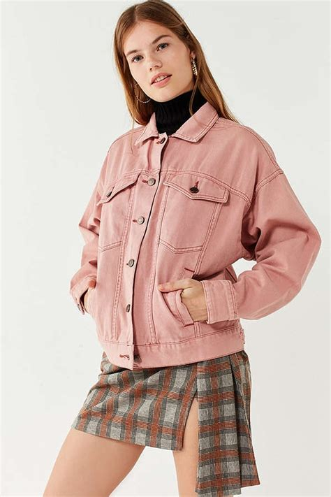 Baby Pink Trucker Jacket denim jackets to wear rn for and for him denimology